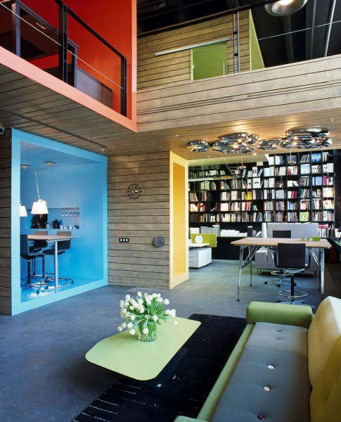 fun office design ideas Formal Factory Turned Into A Colorful Office And Showroom