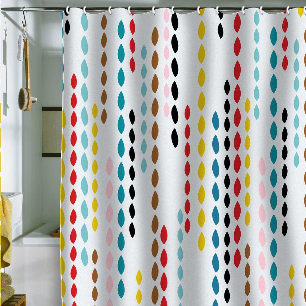 colorfulmodernshowercurtain  Home Decorating Trends