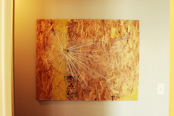Diy Map String Art With Industrial Vibe