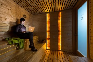 google office budapest hungary steam studio sauna inside bath amazing spa meets wallpapers boardroom floor officelovin actually printed were wood