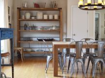 Industrialize Your Dining Room With Metal Dining Chairs
