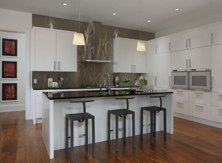 contemporary kitchen backsplash light oak cabinets how to make the most of stainless steel backsplashes