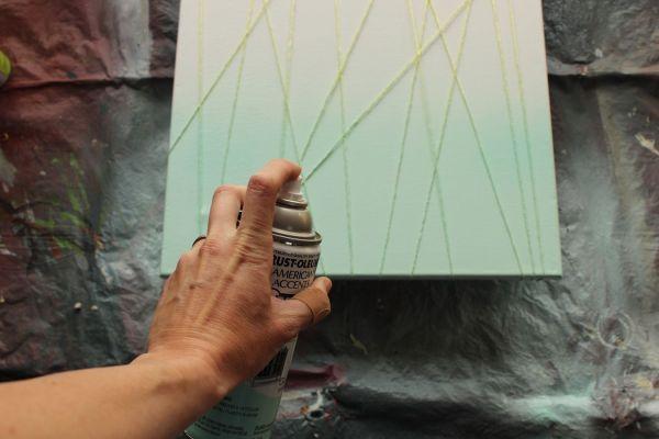DIY Canvas Art Spray-Paint