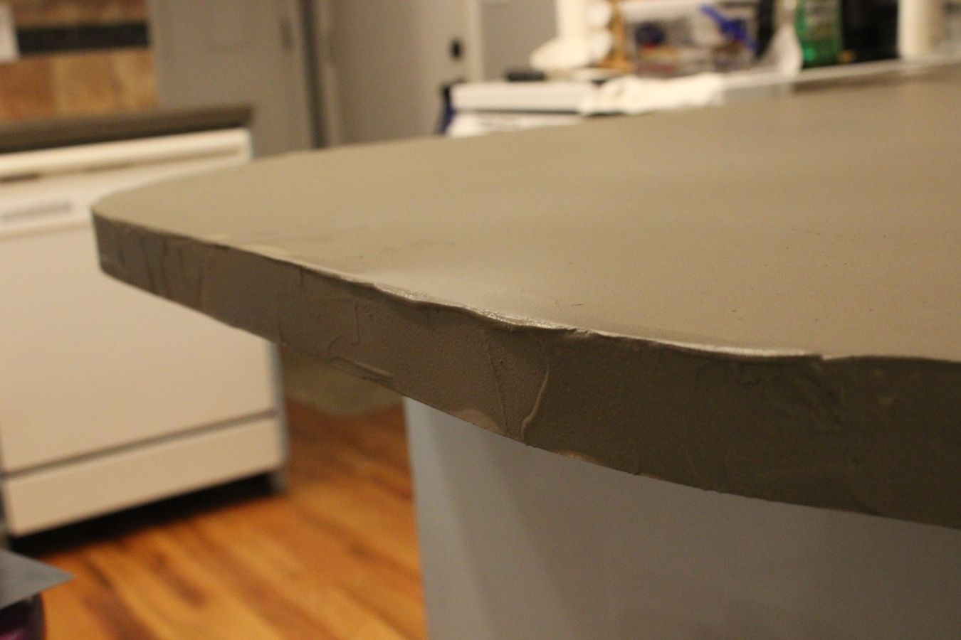 kitchen countertop cover the honest diy concrete countertops a step by tutorial