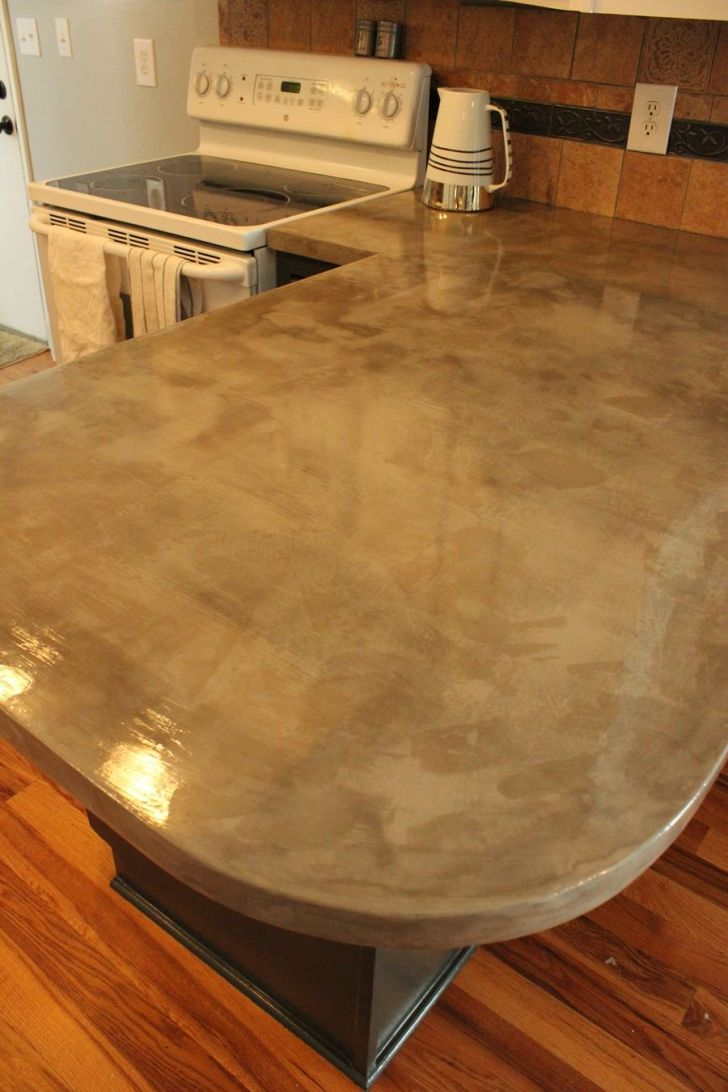 Diy Concrete Kitchen Countertops Step Tutorial