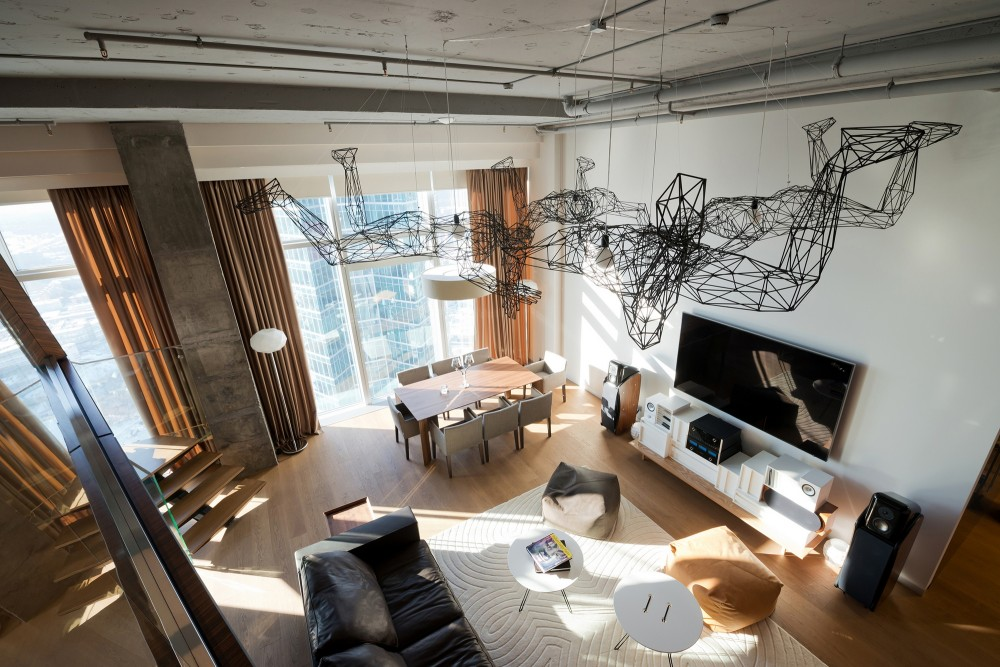 vegas hotels with kitchen outlets penthouse apartment in moscow looks over the entire city