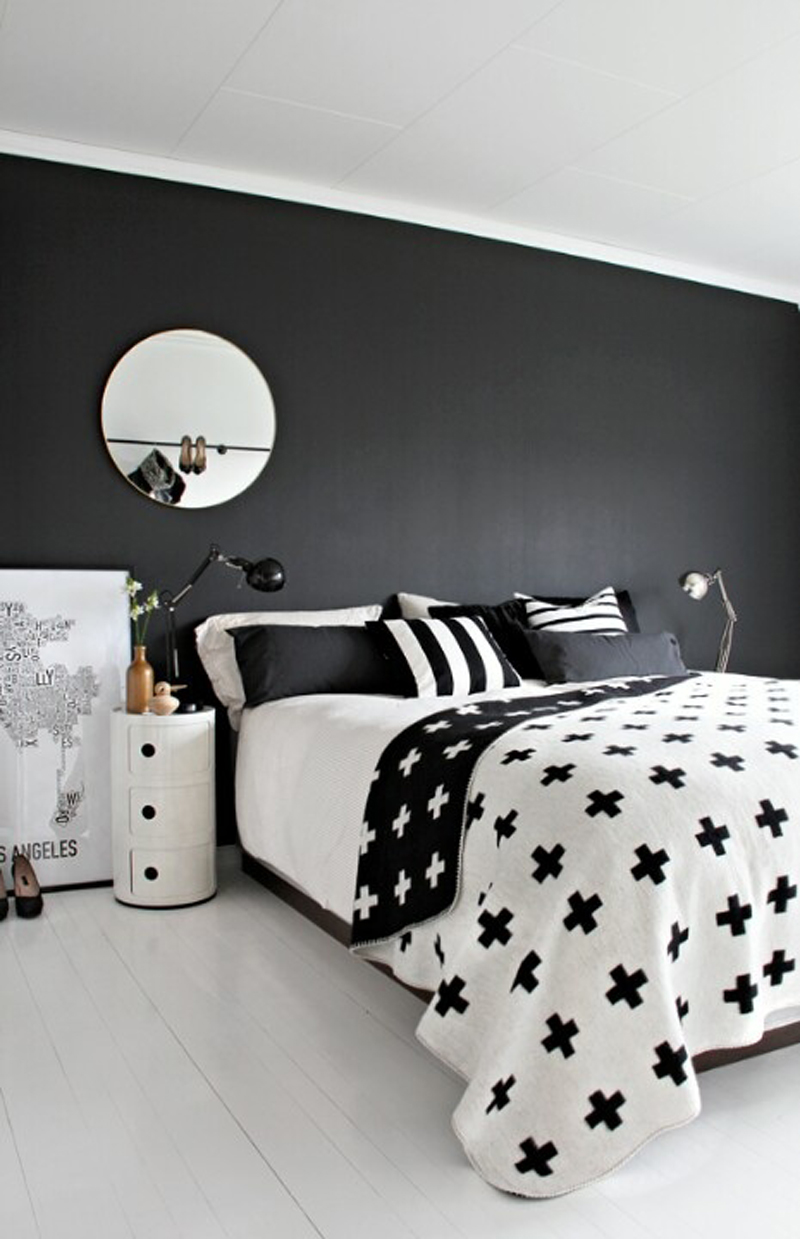 What Color Walls Black And White Bedroom Bedding