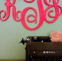 monogram wall decor   Roselawnlutheran