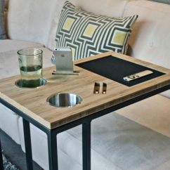 Chair Side End Table With Cup Holder Leather Club Chairs Modern Tv Tray Tables And Fabulous Ways To Use Them