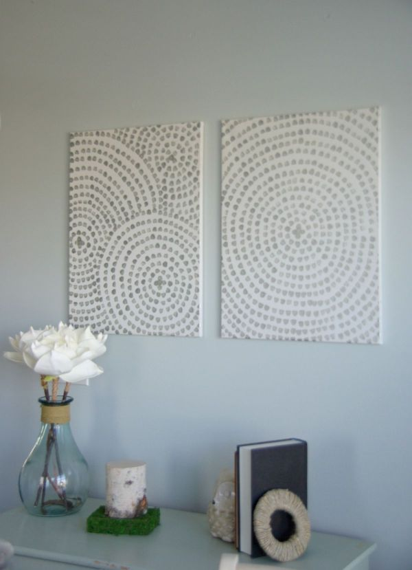 Diy Canvas Wall Art - Cost Add Home