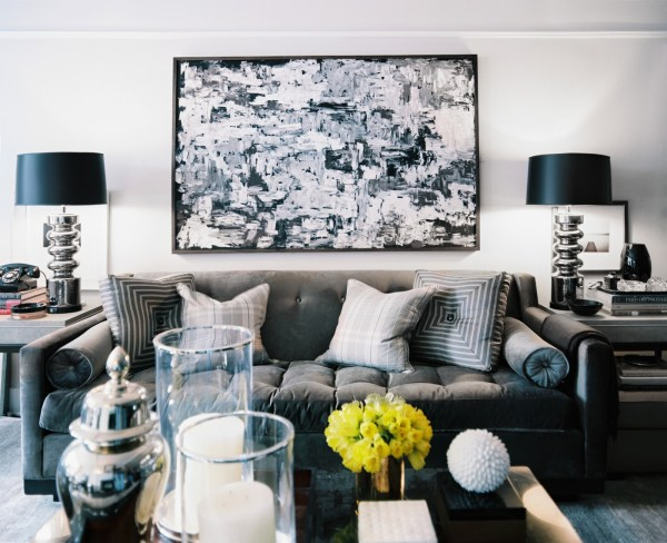 black white and gray living room Interesting But Neutral Color Palettes for the Home