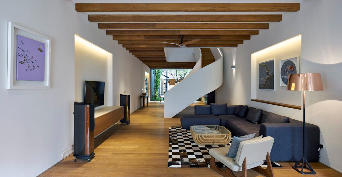 open plan staircase in living room led lights 51 modern design from talented architects around the world