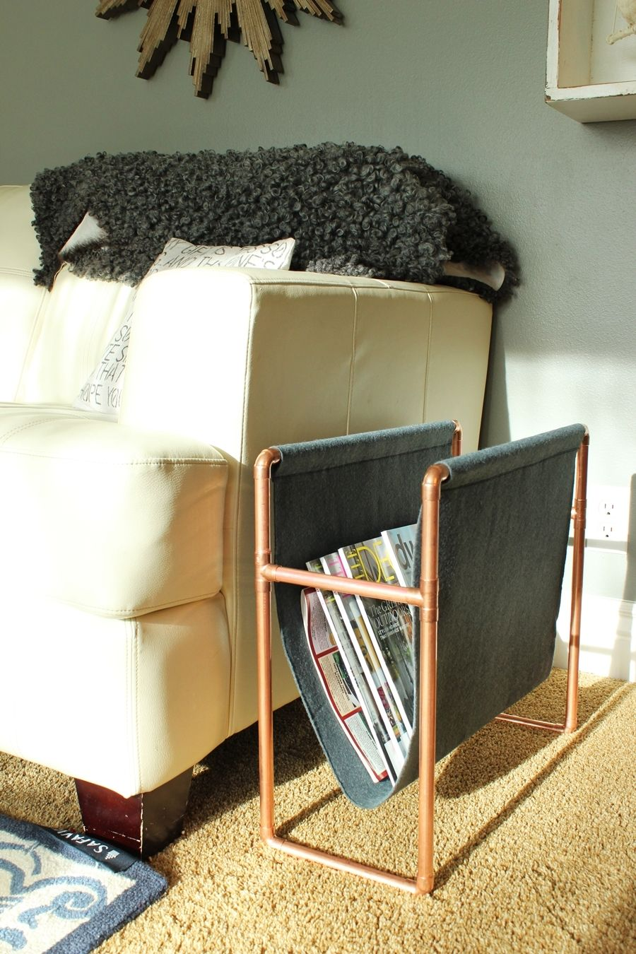Chic DIY Copper Magazine Holder How to Make this