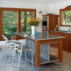 Kitchen Work Tables Cabinets With Glass Increased Functionality Stainless Steel