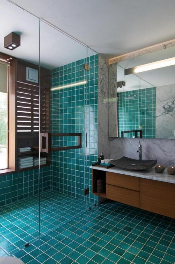 Blue Bathroom Shower Tile Ideas
