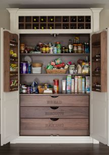 Kitchen Pantry Cabinet Storage Ideas