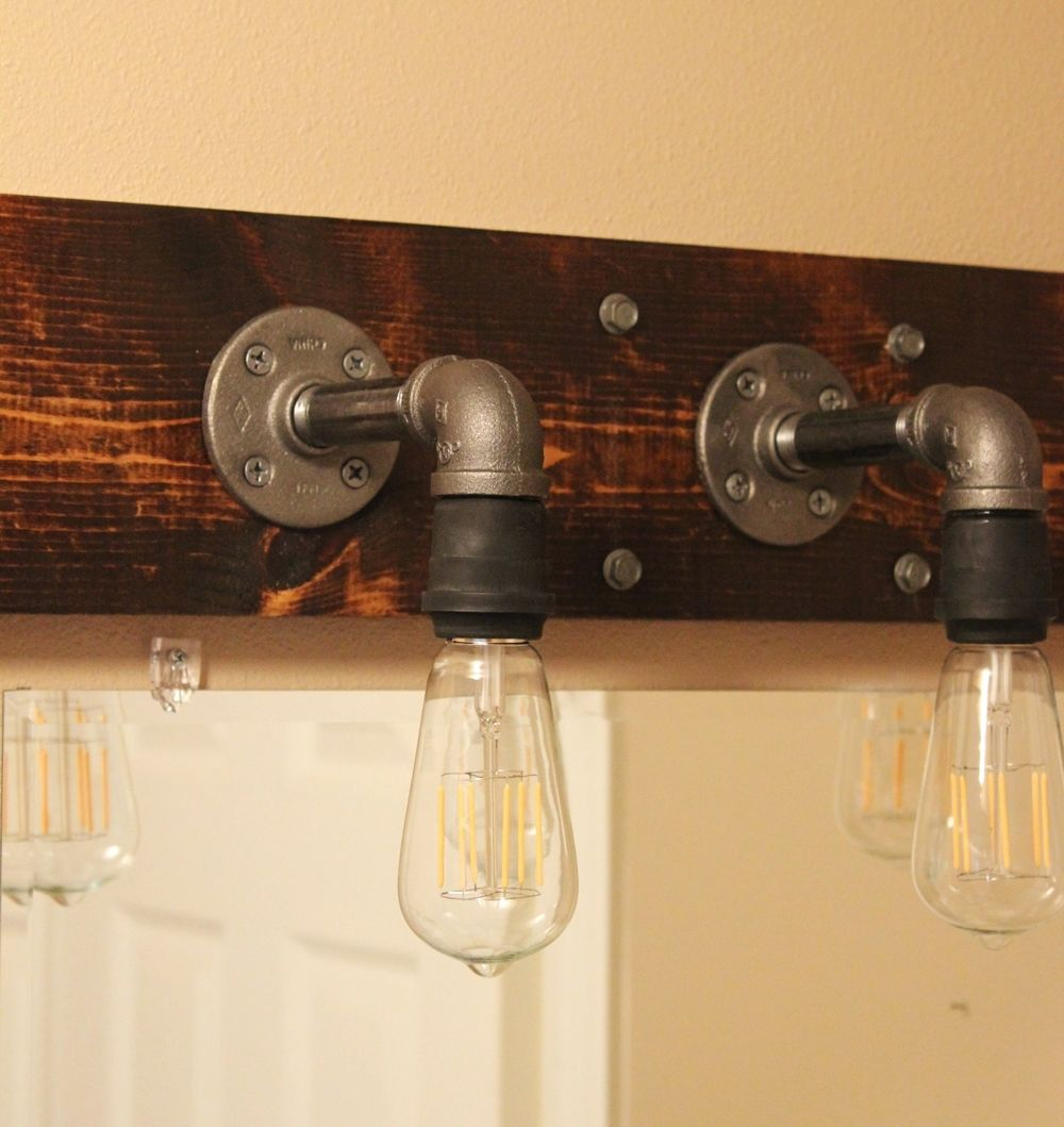 Mason Jar Bathroom Light Diy Industrial Bathroom Light Fixtures