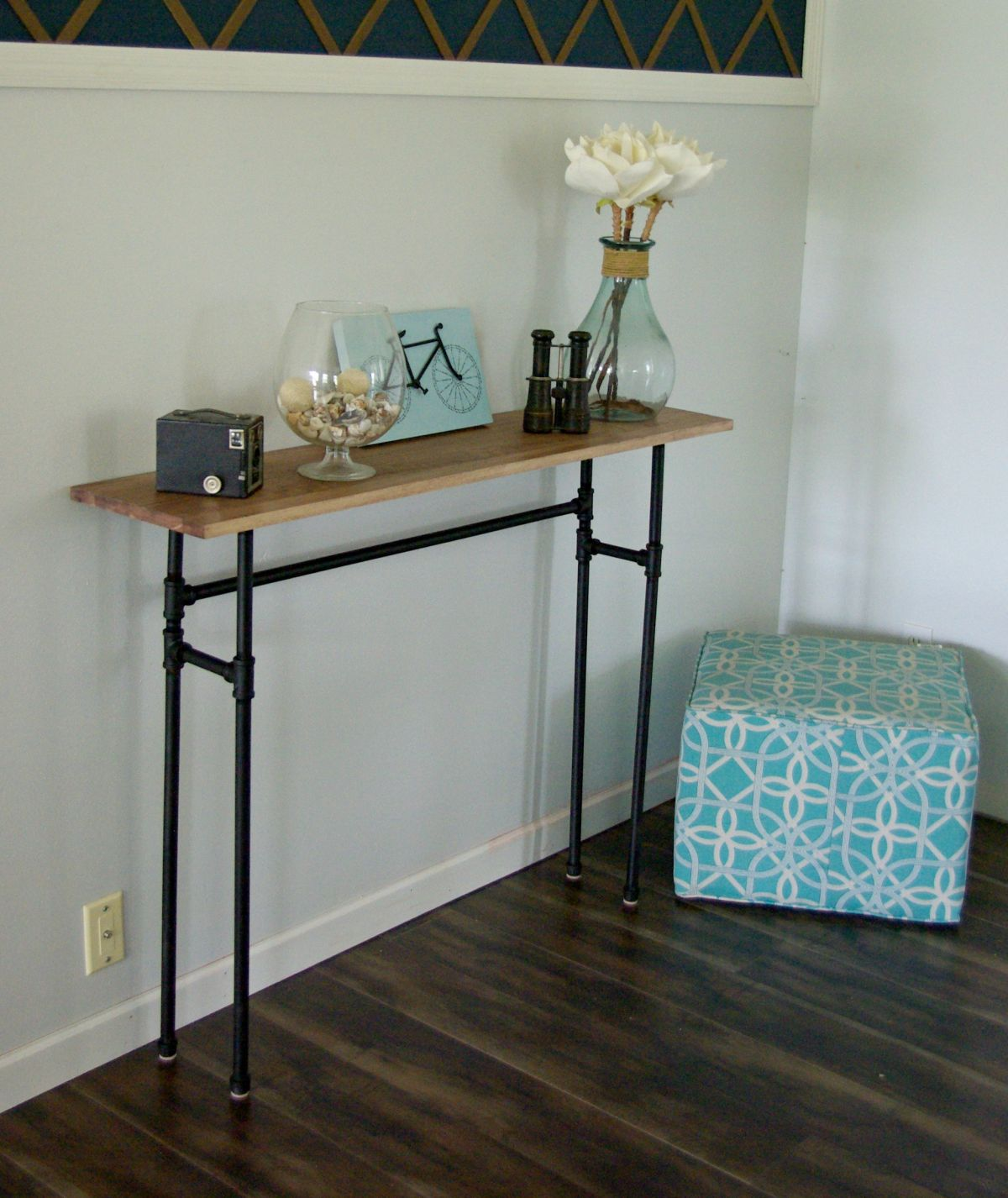 build a rustic sofa table milano singapore how to using galvanized pipes