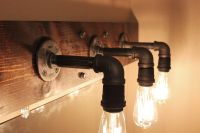 Industrial Bathroom Lighting Fixtures Pipes
