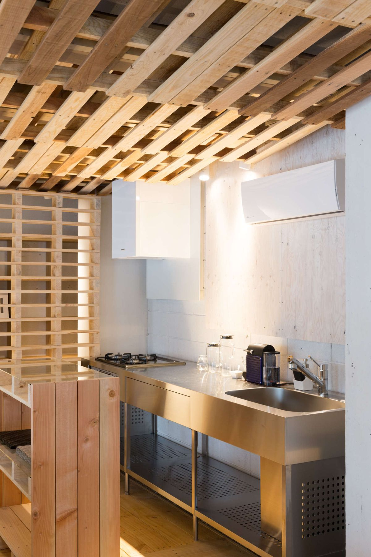 Ingenious LowCost Renovation Of An Office Featuring Pallets