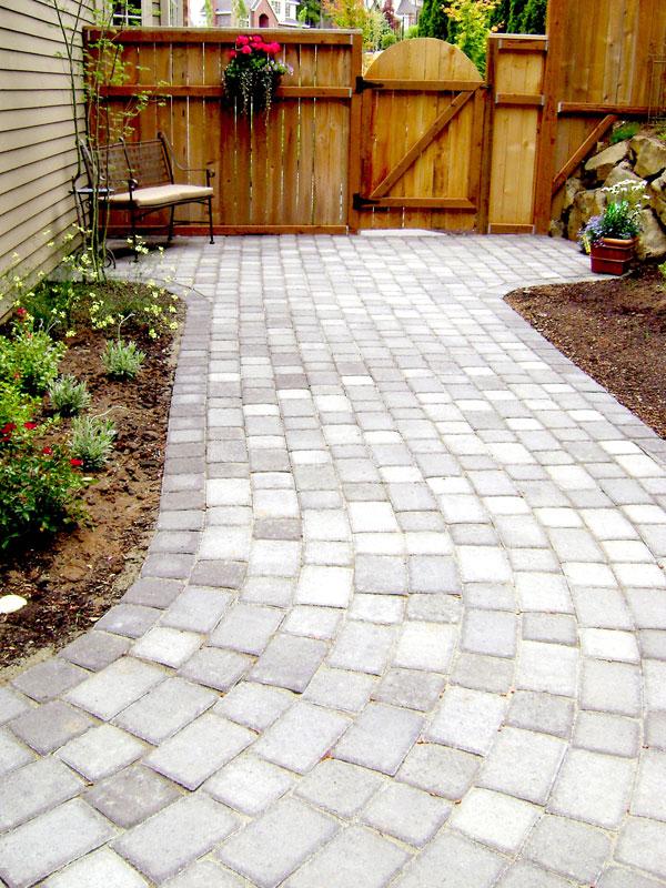 gorgeous stone walkways add