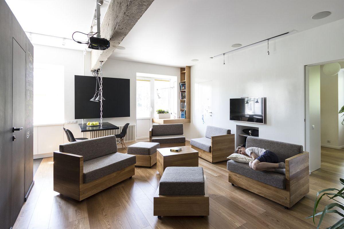 Flexible Family Apartment Full Of Original Design Solutions