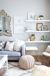 10 Ways To Work With Floating White Shelves