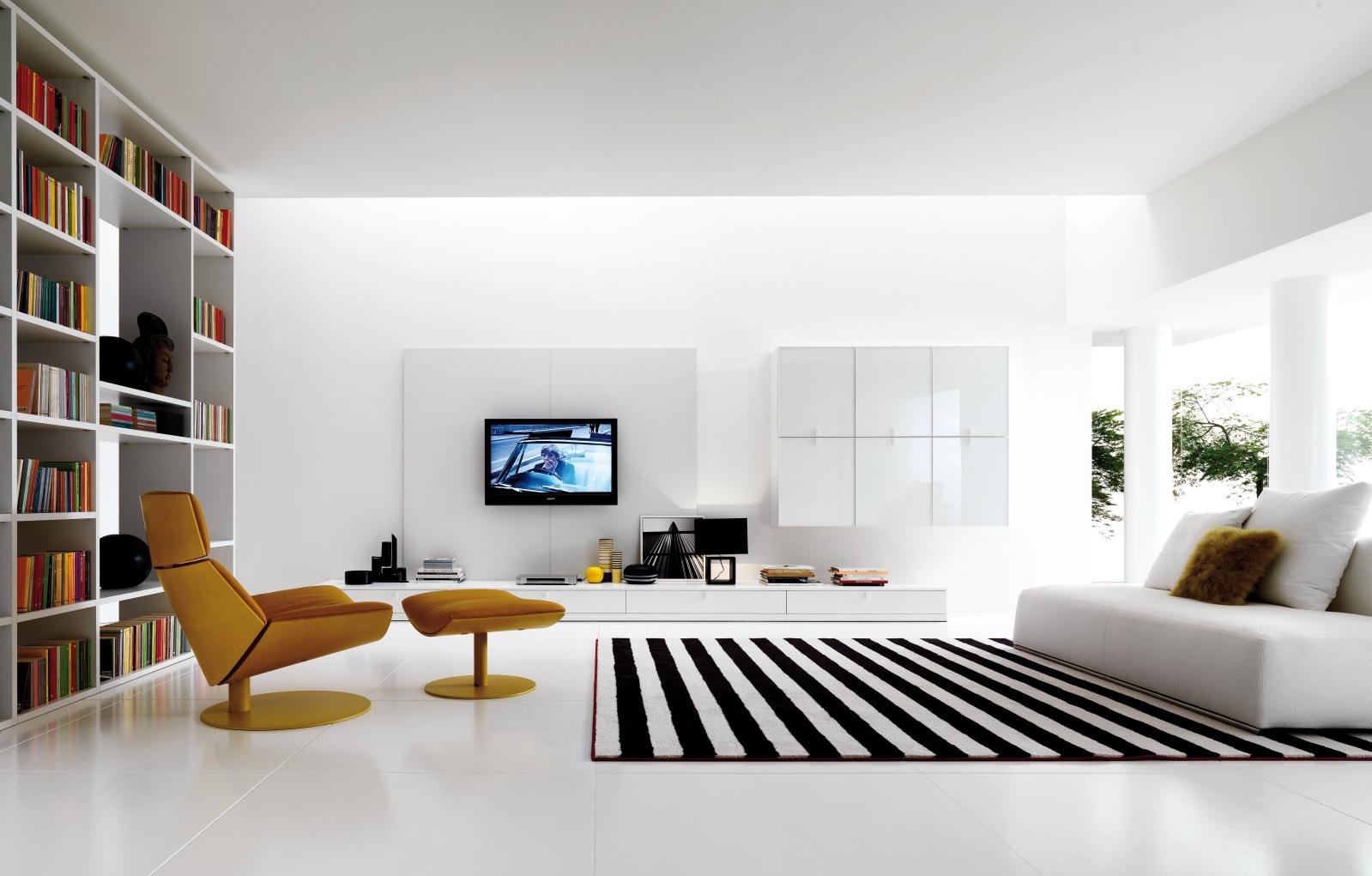 White Modern Living Room Furniture