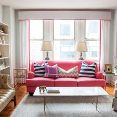 Color Sofas Living Room Wall Showcase Designs For Indian Style Pink An Unexpected Touch Of In The