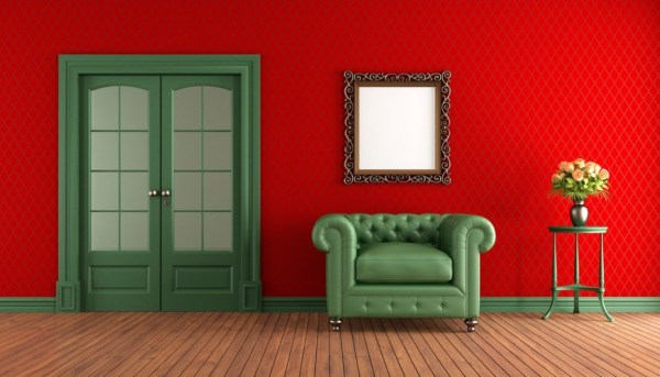 red living room 20 Colors That Jive Well With Red Rooms