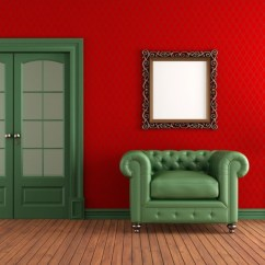 Green And Red Living Room Paint Ideas For With Dark Furniture 20 Colors That Jive Well Rooms Walls Armchair In