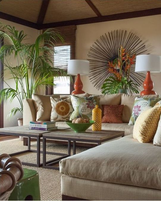 tropical living room decor small end tables for furniture ideas any style of themed