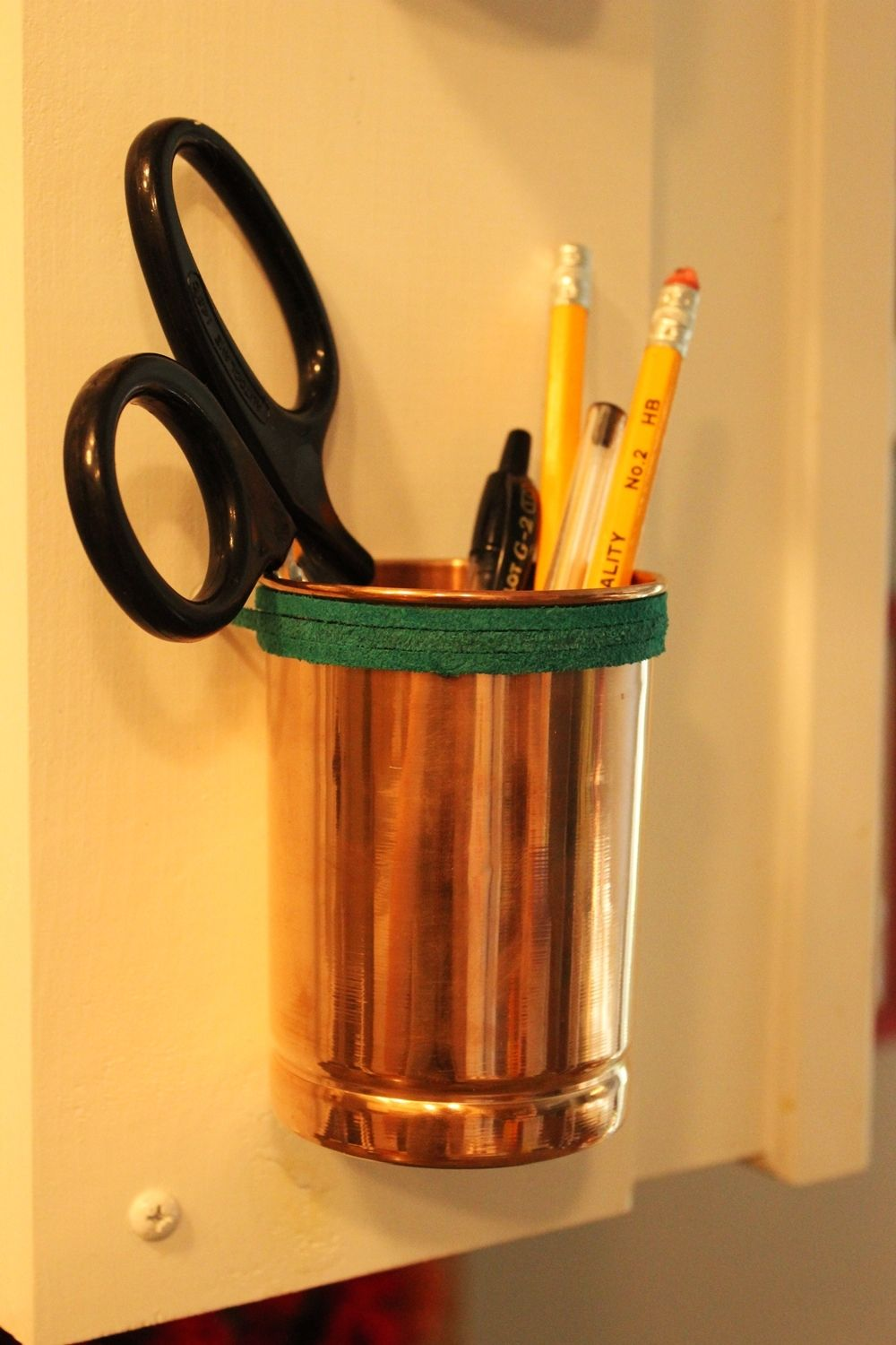 Versatile and Chic  DIY Copper Cup and Leather Kitchen