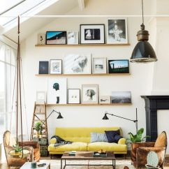 Living Room Sofa And Chair Ideas Window Treatment Small How To Design With Around A Yellow High Ceiling Count Pictures On Ledge