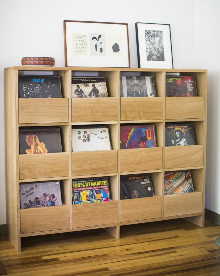 build a vinyl record storage cabinet  Home Decor
