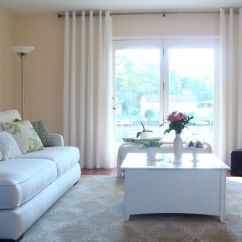 Living Room Curtain Pics Furniture Entertainment Center 20 Different Window Treatments 1 White Chrome Grommet