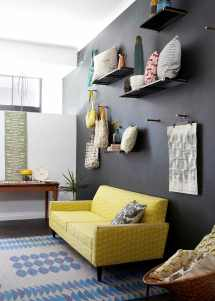 Design With And Yellow Living Room Sofa