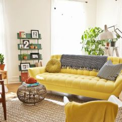 Mustard Yellow Living Room Ideas Modern Curtains For How To Design With And Around A Sofa Cleveland