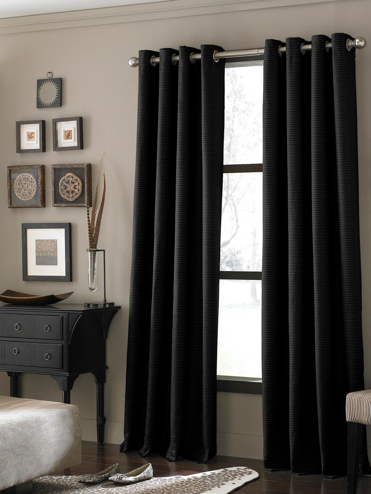 window treatments ideas for living room light blue 20 different black textured curtains
