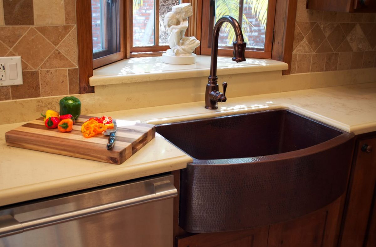 farmers kitchen sink trashcan when and how to add a copper farmhouse