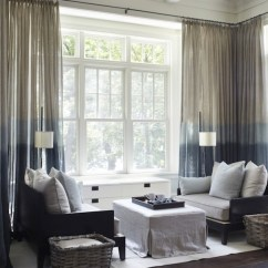 Curtains In Living Room Images How To Choose A Rug For 20 Different Window Treatments Eclectic Dip Dyed