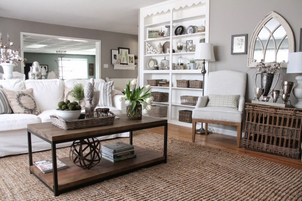 Gray and Taupe Living Room Paint