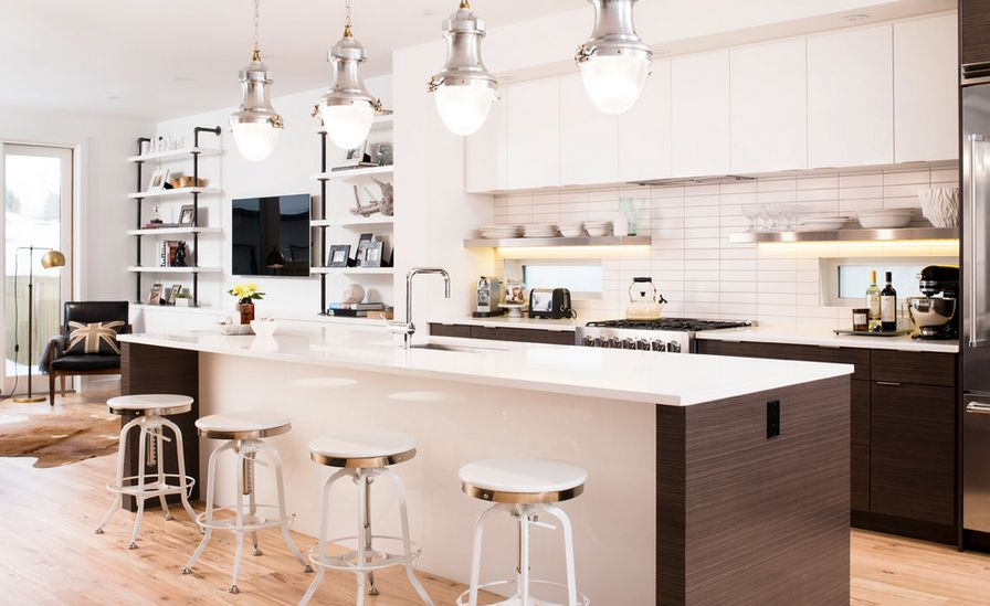 kitchen shelf display ideas triple pendant lights how to mix and match stainless steel shelves with ...