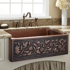 Kitchen Farm Sink Used Cabinets Ct When And How To Add A Copper Farmhouse Ornate