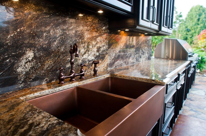 Miraculous Kitchen Sink Copper Copper Kitchen Sink With Brushed Nickel Interior Design Ideas Inesswwsoteloinfo