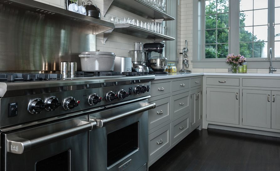 metal kitchen shelf cabinets charlotte nc how to mix and match stainless steel shelves with your style