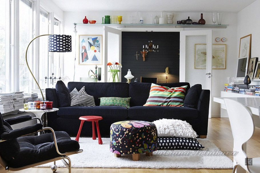 Black Scandinavian Design Interior