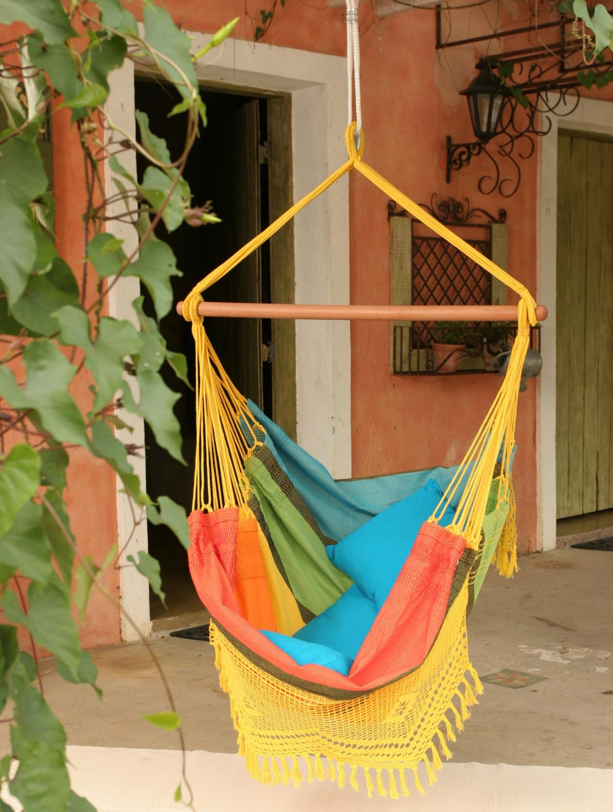 marrakech swing chair metal dinning chairs modern hanging take the coziness outside