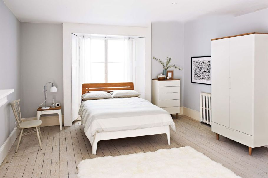Comfortable bedroom with Nordic style