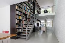 Loft Home Library Design